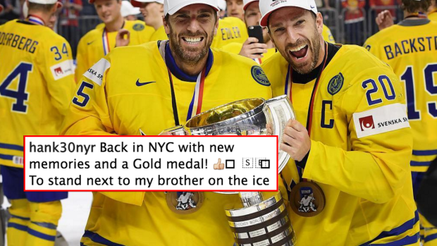 Lundqvist S Heartfelt Post About His Twin Brother After Winning Gold