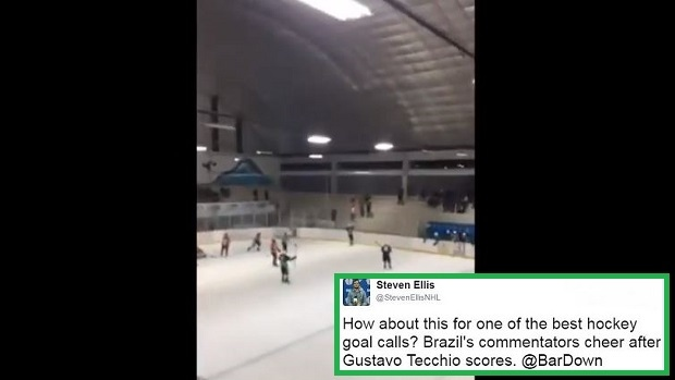 Brazilian Commentators Go Crazy After Brazil Scores At The Pan Am