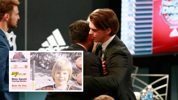 best sneakers f90f0 c4bb0 This photo of a 9-year-old Nico Hischier foretold tonight's ...