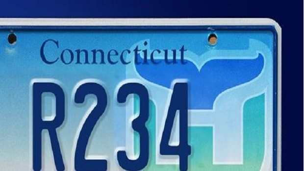 Hartford Whalers license plate