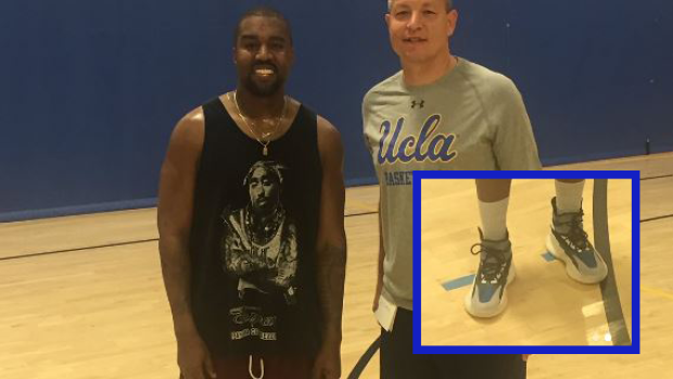 570e7e9a2b6 Did Kanye West just reveal his first-ever basketball shoe with ...