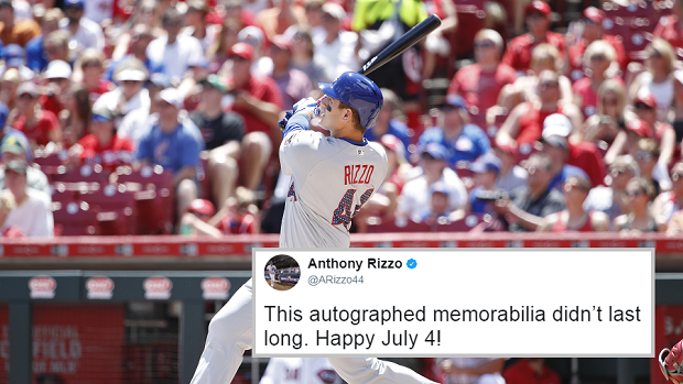 low priced eae3a 2c174 Anthony Rizzo signed the most stereotypical 4th of July ...