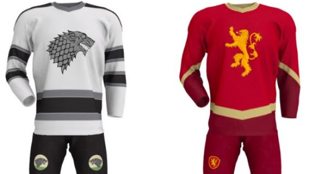 Game of Thrones inspired jerseys