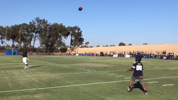 Dez Bryant Plays Catch With Young Fan After He Broke Down