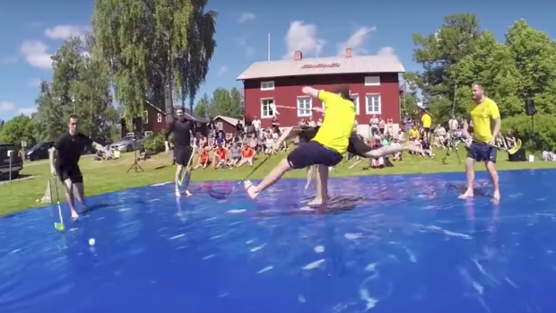 Soap Hockey' is the perfect summer sport that's filled with