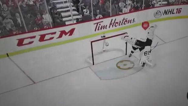 Nhl 17 Goalie Gets Shot Through The Air By Teammate Still Makes