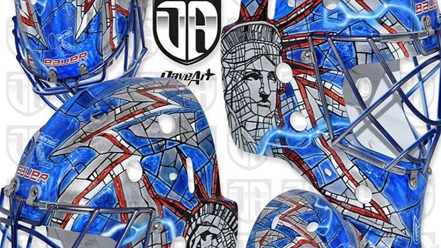 Henrik Lundqvist S Awesome New Mask Looks Like A Stained Glass