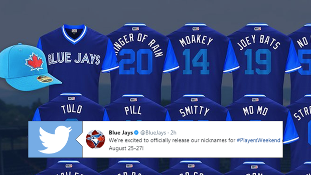 a3ab1f3d4 Blue Jays reveal players  clubhouse nicknames that will be on jerseys this  weekend - Article - Bardown