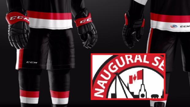 The Belleville Senators unveil their uniforms for the 2017-2018 season.