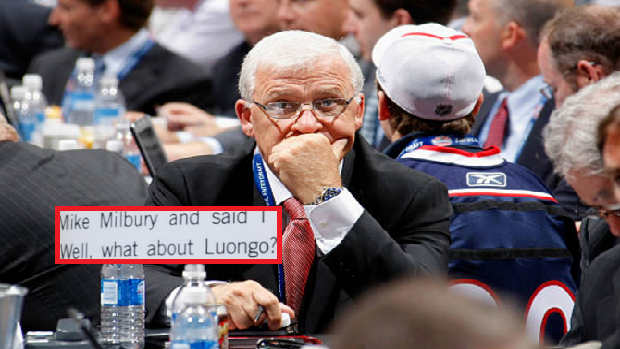 Bryan Murray at the 2009 NHL Entry Draft.