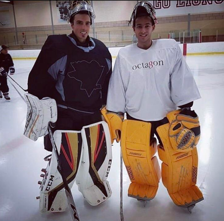 pretty nice c5d98 d4a89 Marc-Andre Fleury shows off new Vegas pads while rocking ...