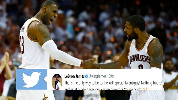 a1d293c0f535 LeBron James shows Kyrie Irving some love after blockbuster trade - Article  - Bardown