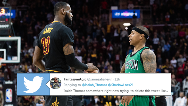 d8cef7a53ae ... Isaiah Thomas roasting LeBron James. BarDown Staff. Isiaiah Thomas