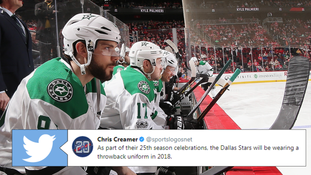 The Dallas Stars will tease fans this season with a throwback jersey they  won t actually use - Article - Bardown 2e0f8ec53