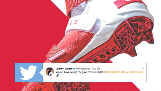 50b8e4a07f7ef Ohio State to pay tribute to LeBron James with custom cleats - Article -  Bardown
