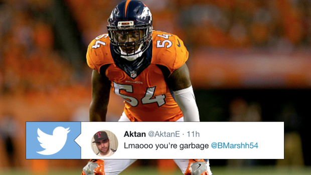quality design 89839 f9c3d Brandon Marshall (Broncos) fires back at fans angrily ...