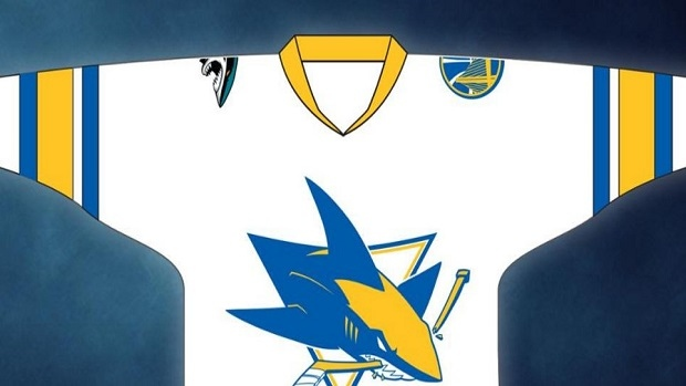the latest 3a1e4 a32fa Sharks will give fans Warriors-themed jerseys as a ...