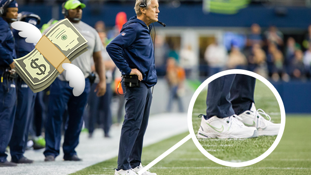 6954ba45d227 Pete Carroll s custom Nike  dad shoes  are selling for thousands ...