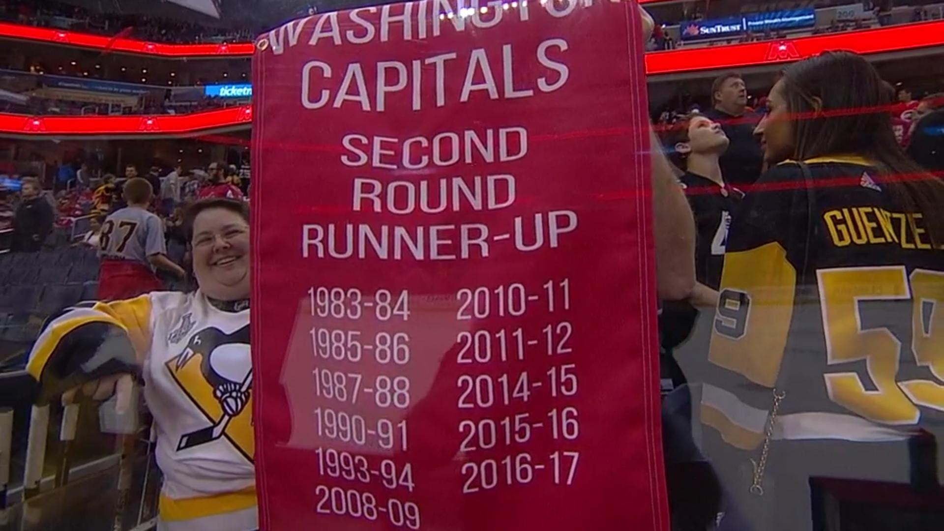 Penguins fans roast the Capitals with fantastic banner - Article ... b33b24de416
