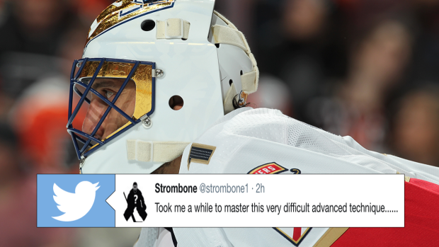 Luongo Points Out Funny Advanced Technique He Pulled Off Against