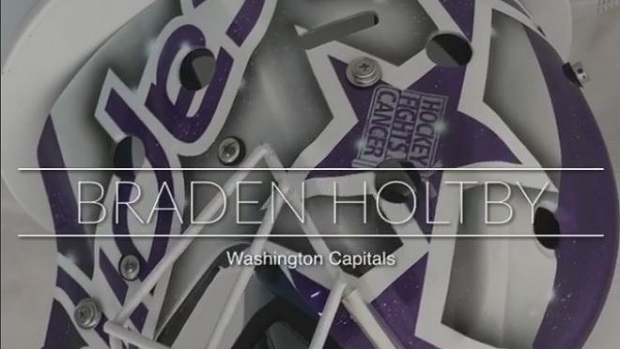 the best attitude 5951b 2afa3 Braden Holtby had a special mask designed for Hockey Fights ...