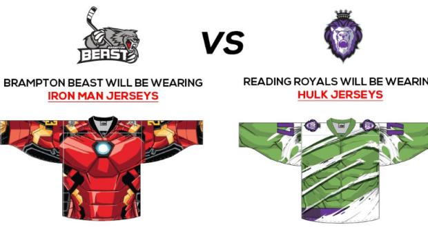 Marvel Super Hero jerseys