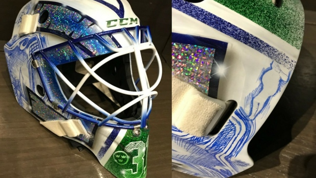 Anders Nilsson Honours His Newborn Son And The You Can Play Initiative On His New Canucks Road Mask Article Bardown