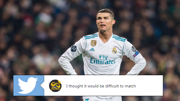 Cristiano Ronaldo during a 2017-18 Champions League match.