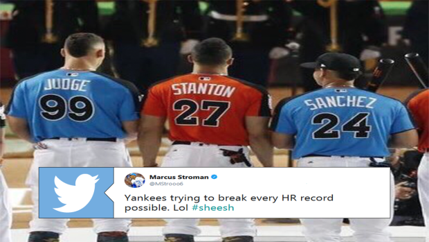 super popular bae2a c86a2 The baseball world is going crazy over the pending Giancarlo ...