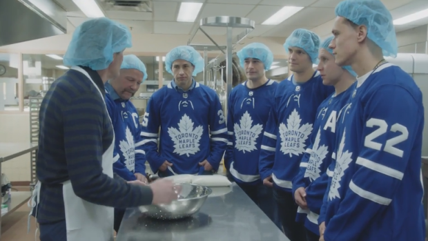 Leafs at Sick Kids