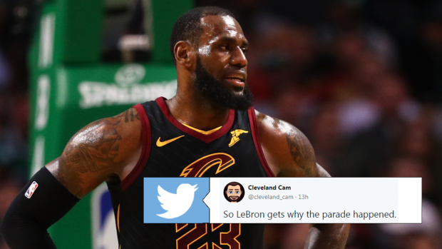 online retailer 45922 bef69 LeBron says he completely agrees with Browns fans having 0 ...