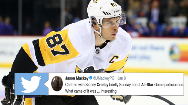Sidney Crosby gave an unexpected answer when asked about participating in  2018 All-Star game - Article - Bardown 16c13ec5f