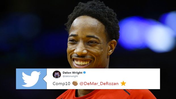 afe2ea860fb Basketball world reacts to DeMar DeRozan being named starter in NBA ...