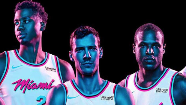 size 40 3cafc a68cb Heat dropped Miami Vice 'City Edition' jerseys and they ...
