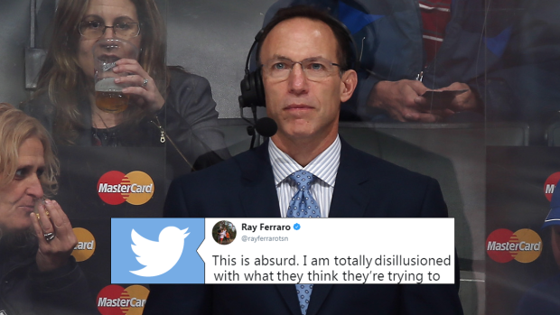 After Another Questionable Ruling Ray Ferraro Sounded Off On The Nhl Rulebook Article Bardown