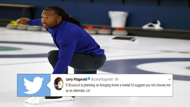 Larry Fitzgerald curling