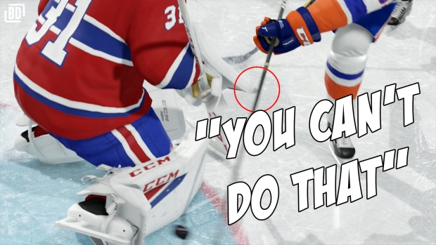 This Video Uses Nhl 18 To Explain What Goalie Interference Actually