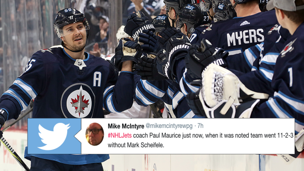 Paul Maurice Had An Amazing Response To His Team S Record With Scheifele Injured Ahead Of His Return Article Bardown