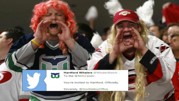 Hartford Whalers and Carolina Hurricanes fans